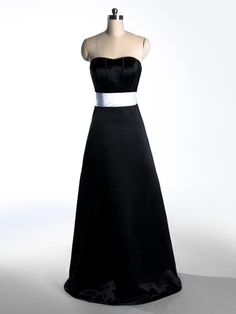 2015 Sleeveless Black Satin Zipper Strapless Ruched Sweep Train Homecoming / Evening / Prom Dresses TBQP174