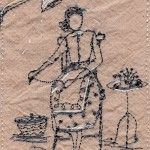 Betty follows twists and turns of embroidery: Michelle Holmes