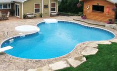 Freeform - Inground Vinyl Liner Pool - Lagoon shape is closest to Mickey shape