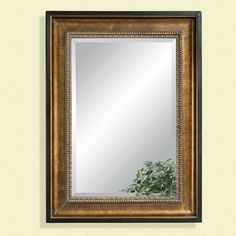 Have to have it. Burnished & Antique Gold Oversized Mirror - 36W x 48H in. - $298 @hayneedle