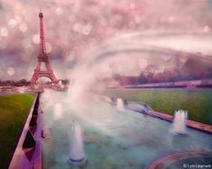 "Paris Photography - pink and purple photo of the Eiffel Tower, Paris, Europe, romance, love, home decor, Paris wall art- ""Paris is Magical"" on Etsy, $17.19 AUD"