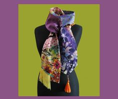 """Bohemian chic scarf  """"Vivienne"""" One of a kind - pinned by pin4etsy.com"""