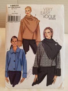Vogue 8625 uncut pattern misses jacket pattern ladies | Etsy Tunic Sewing Patterns, Vogue Patterns, Coat Patterns, Clothing Patterns, Romper Pattern, Jacket Pattern, Line Jackets, Jackets For Women, Plus Size Patterns