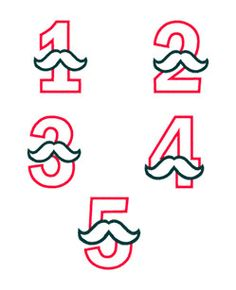 Sets :: Birthday Sets :: Mustache Numbers