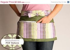 Amazing Idea for Sewing Your own Craft Show Apron.  Vendor Apron PDF Sewing Pattern  Craft by BLISSFULpatterns