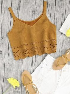 SHARE & Get it FREE | Cropped Laser Cut Faux Suede Tank TopFor Fashion Lovers only:80,000+ Items • New Arrivals Daily • FREE SHIPPING Affordable Casual to Chic for Every Occasion Join Zaful: Get YOUR $50 NOW!