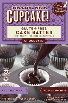 Ready. Set. Cupcake! by The Piping Gourmets, brings a novel concept to gluten-free baking.