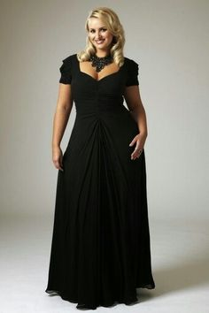Black Plus Fashion Evening/Prom Dress