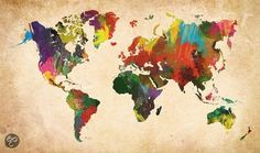 bol.com   Deco Block Wereldkaart in kleur   Wonen