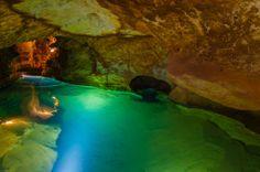 The Rivr running through Janolian Caves, NSW , Australia
