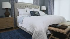 Take a peek inside this pretty bedroom that blends calming vibes with chic touches. Watch and see!