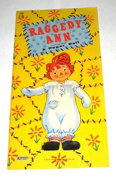 VINTAGE 1961 Raggedy Ann & Andy Paper Doll book, BOBBS-MERRILL CO