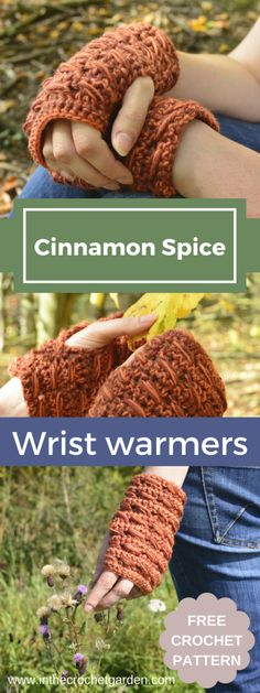 Cinnamon Spice Wrist Warmers