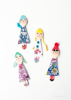 Wooden Spoon Dolls DIY via Love From Ginger