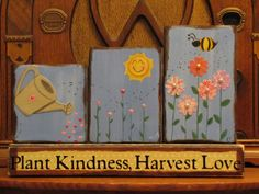 Plant Kindness Harvest Love Spring  Sign by PunkinSeedProduction, $32.00