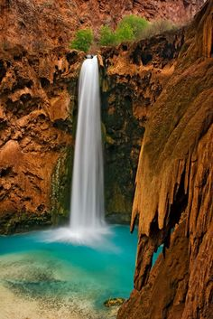 Mooney Falls, Havasu Canyon, Arizona (AZ), USA. It's even more spectacular in person.