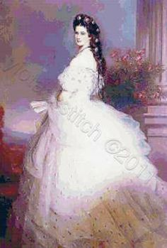 Princess Sissi cross stitch pattern