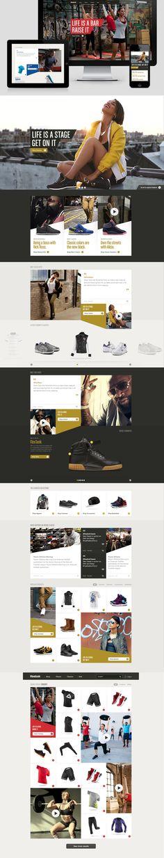 Reebok.com on Behance