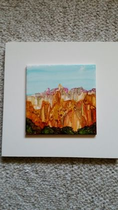 Alcohol ink. Sedona Scapes