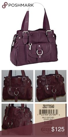 NEW FOSSIL Milo SATCHEL Purse BAG Eggplant PURPLE Such a stunning bag!! NEW with tags!! Fossil Bags Satchels