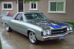 1970 70 Chevy El Camino SS Pro Touring resto mod beautifully done well over Custom Muscle Cars, Chevy Muscle Cars, Best Muscle Cars, Custom Trucks, Custom Cars, Chevy Trucks, Pickup Trucks, Classic Trucks, Classic Cars
