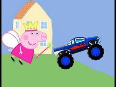 Peppa Pig hada en español, trasforma su auto en un Monter Truck – Capitu...
