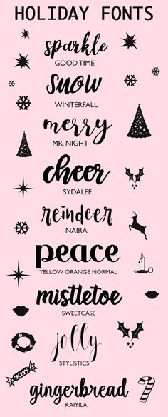 A Bubbly Life: Fonts To Make You Holidays Sparkle                                                                                                                                                                                 More