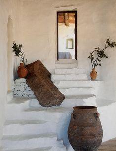 Casa de pedras em Mykonos, Grecia.