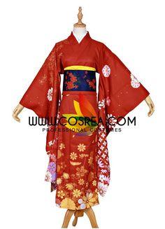 Kancolle Yudachi New Year Kimono Cosplay Costume