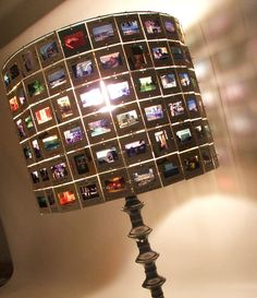 photo slide lamp shade - brilliant!