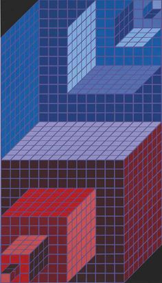 Victor Vasarely Untitled silkscreen…Victor Vasarely, French –…Victor Vasarely (Hungarian/French, Spaces: The Art of Victor Vasarely Victor Vasarely, Modern Artists, French Artists, Opt Art, Zentangle Patterns, Geometric Designs, Fractal Art, Optical Illusions, Quilting Designs