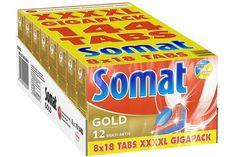 Somat Spülmaschinen Tab Gold 4XL 144 Stück Gigapack Phosphatfrei Zitronensäure