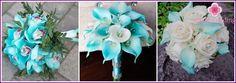 Tyrkysové svatební kytice - tipy na výběru a přípravě vlastních rukou s fotografiemi
