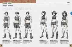 Massive Manga: The Complete Reference to Drawing Manga/ body types