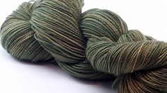 Avacado Merino Gold Glitter Hand Dyed Yarn by ColorPurl on Etsy