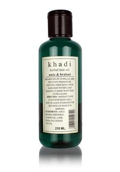 Khadi Amla Brahmi Hair Oil - 210 ml -- This is an Amazon Affiliate link. You can find out more details at the link of the image.