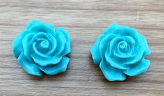 A personal favourite from my Etsy shop https://www.etsy.com/au/listing/258466196/rose-carved-flower-earrings-turquoise