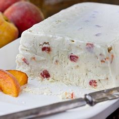 Peaches and Cream Semifreddo.