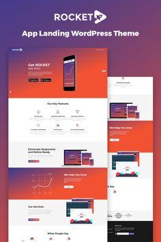 Rocket - Mobile App Landing Page WordPress Theme #67077