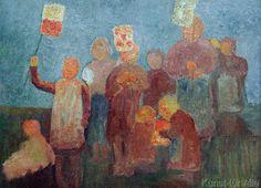 Paula Modersohn-Becker - Kinder mit Laternen