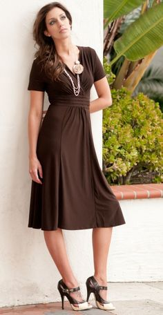 dresses, dresses, dresses! Chocolate brown dress! Love it!