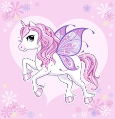 """Cute little unicorn character with butterfly wings over pink Unicorn Poster, Cartoon Unicorn, Unicorn Face, Baby Unicorn, Unicorn Images, Unicorn Pictures, Images Of Unicorns, Unicornios Wallpaper, Wallpaper Iphone Cute"