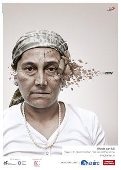 """Words can kill"" #discrimination #jetudielacom"