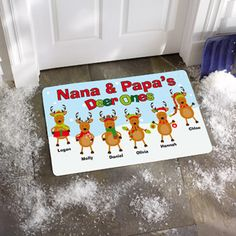 "Personalized ""Deer Ones"" Doormat, 24"" x 36"""
