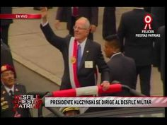 2:45 / 3:15 Desfile Militar: presidente Kuczynski llega a la avenida Brasil. Carisma y sencillez lo distingue!!! 29 JULIO 2,016