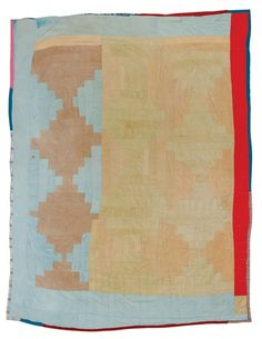 "Quilts of Gees Bend / q028-02ab.JPGLeola Pettway, born 1929. ""Log Cabin"" -- ""Courthouse Steps"" variation (local name: ""Bricklayer""), ca. 1975, corduroy, 85 x 70 inches. Leola Pettway is China Pettway's mother."