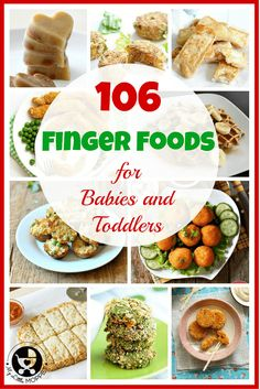 If your baby has started weaning and you're looking for finger foods, here is a master collection of 106 baby finger food recipes - all for you! They can be given as finger food for toddlers too. The recipes include patties, fritters, rolls, balls, pancakes, muffin , chicken salmon cakes recipes for babies and toddlers
