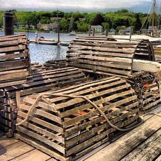 Empty lobster traps--Mystic Seaport, CN