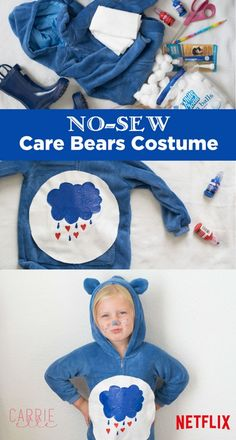 Easy No-Sew Care Bears Costume - this costume is so simple, and such fun! sponsored Easy No-Sew Care Bears Costume - this costume is so simple, and such fun! Care Bears Halloween Costume, Care Bear Costumes, Scream Halloween, Bear Halloween, Baby Costumes, Spirit Halloween, Halloween Costumes For Kids, Halloween Diy, Family Halloween