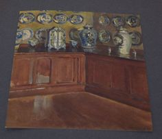 Kunstdruck 1907 * WALTER GAY Delfter Porzellan * Delft Seemann * Druck Art Print